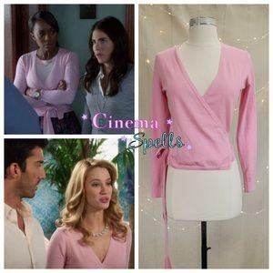 ☀️ASO Petra /Michaela on TV DVF Silk Wrap Sweater